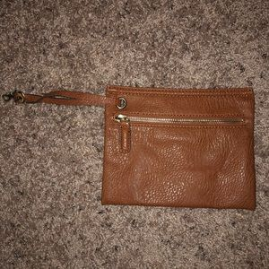 Street Level Soft Leather Clutch/ Wristlet